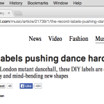 DAZED. The Record Labels Pushing Dance Harder